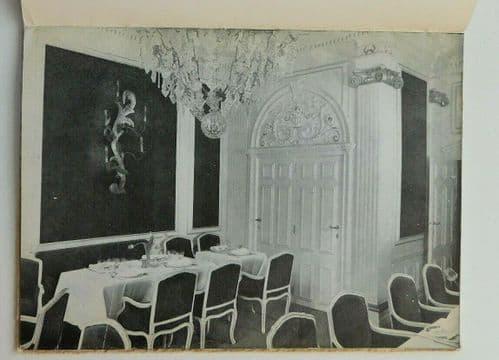 La Grand'Place de Bruxelles 1950s advertising book Couronne restaurant Brussels
